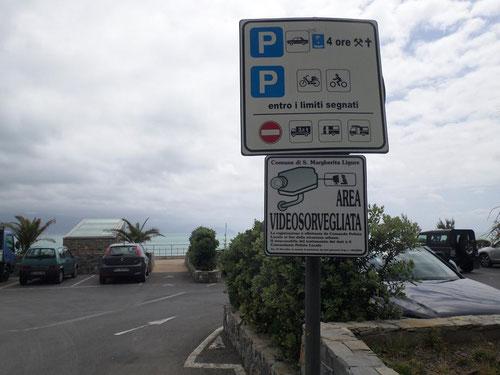 Le parking (qui était gratuit) de Covo di Nord Est