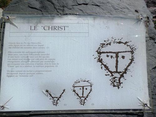 """Roche appelée le """"Christ"""""""