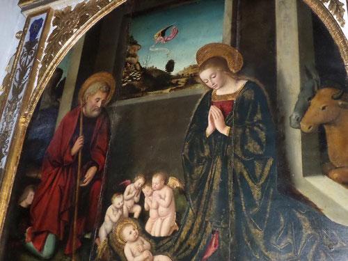 Saint Joseph et la Vierge adorant l'enfant de Louis Bréa