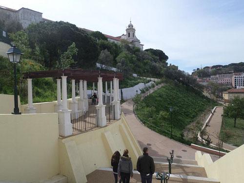Jardim da cerca da Graça avec l'église en haut