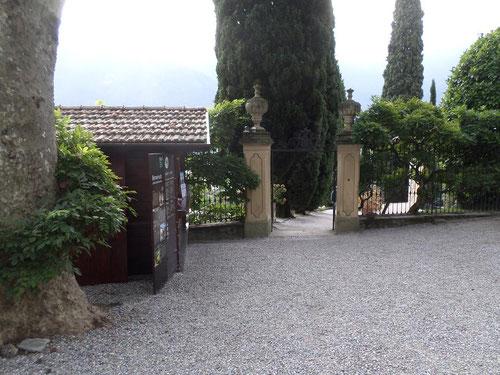 L'entrée de la Villa del Balbianello