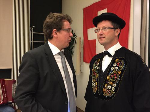 Mit Albert Rösti an der Generalversammlung der SVP Nidwalden. Juni 2016