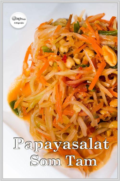 Rezept für einen köstlichen thailändischen Papayasalat - Som Tam