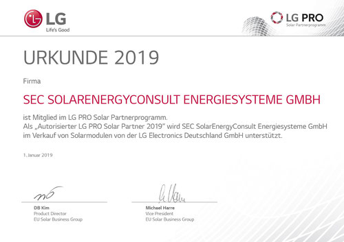 SEC GmbH LG Pro Partner 2019