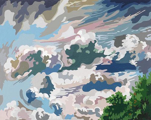 O. T. (WOLKE VI ) 2015 | Acryl auf Nessel | 50 × 40 cm