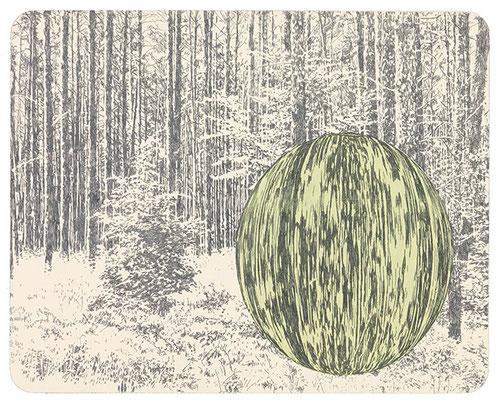 TRANSFORMATION IV 2015 | Acryl und Carbon auf Holz | 40 × 50 cm