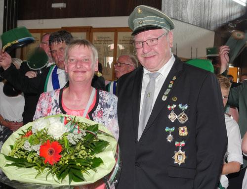 Das neue Kaiserpaar Reinhold Höttecke und Annette Hanko