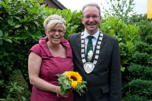 Das Königspaar 2012: Birgit Wahlert und Manfred Greiwe