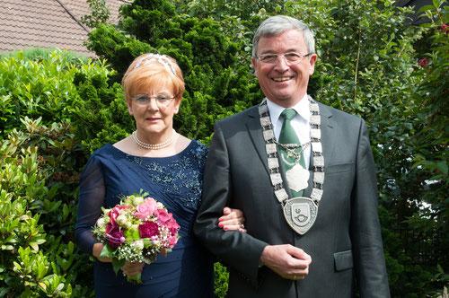 Königspaar 2016 Jutta Greshacke und Hermann Stephan