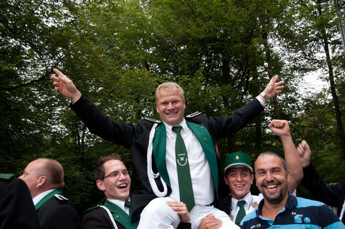Jörg Sidon nach dem Erringen der Königswürde 2011