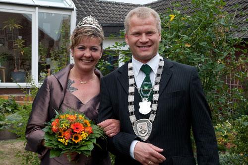 Das Königspaar 2011: Ina Druffel und Jörg Sidon