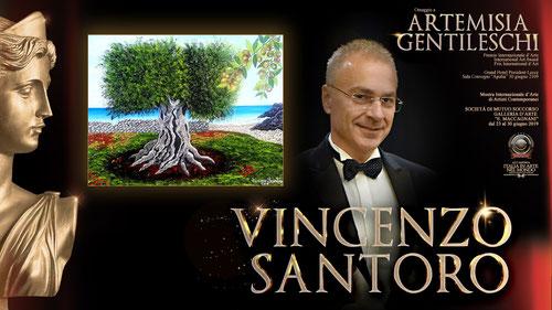 """Slide del Premio Internazionale  d'Arte  """" Artemisia Gentileschi """".  Lecce 30 giugno 2019 - Grand Hotel President"""