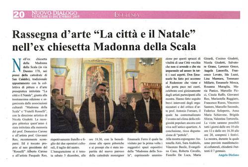 """Articolo del """" Nuovo Dialogo """" di venerdì 11 dicembre 2015."""