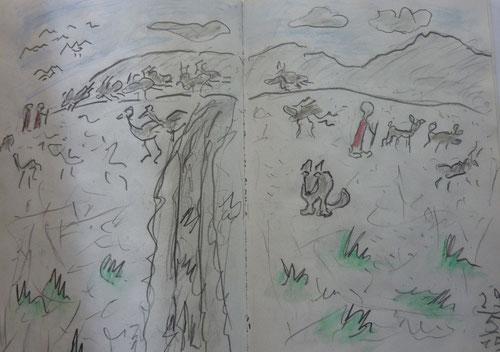 Serengeti Tiere und Maasei