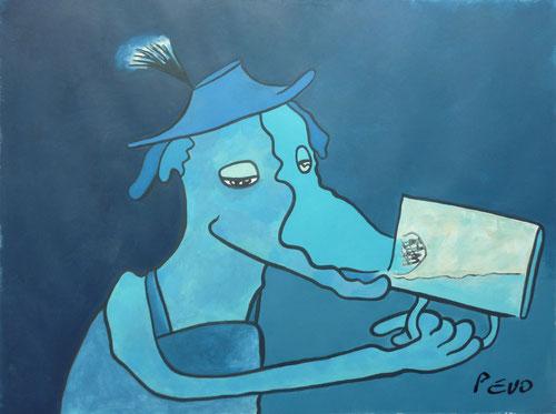 BLUE HOUND with Chamois-Beard