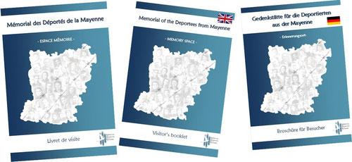 Livrets de visite du Mémorial des Déportés de la Mayenne (en français, anglais et allemand)