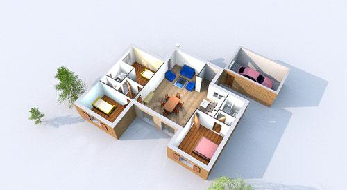 Maison contemporaine  RDC