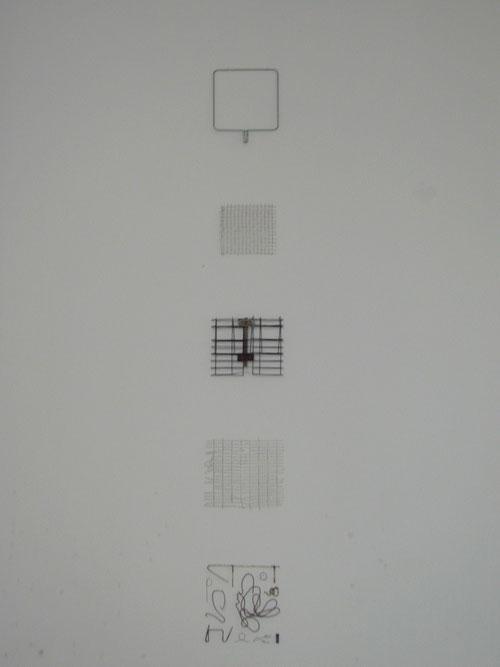 drahtreihung; galerie 68elf, köln ©stephan brenn