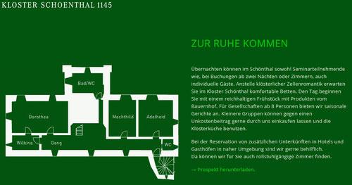 Kloster mit Grundriss