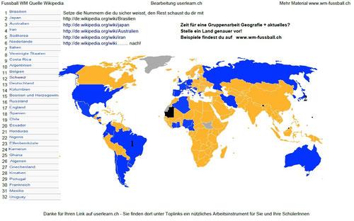 wm teilnehmer länder