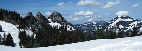 Skifahren Voralpen