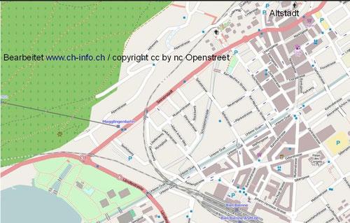 Karte iNKL. Übersicht Bielersee und Details Altstadt Biel