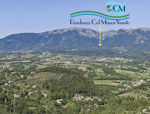 Residenza Col Muson vista da Sud