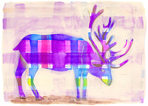 violet reindeer