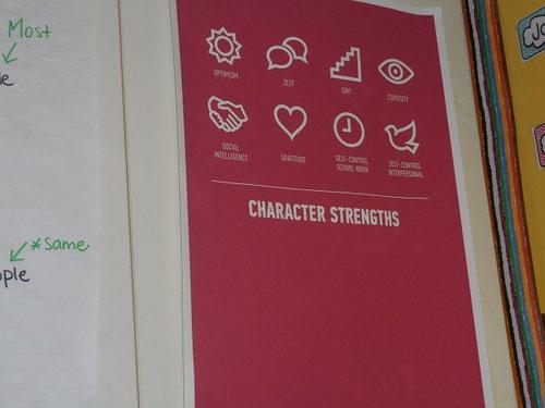 教室の後ろに貼られた標語