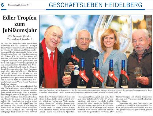 Quelle: Rhein-Neckar-Zeitung vom 23.01.2014