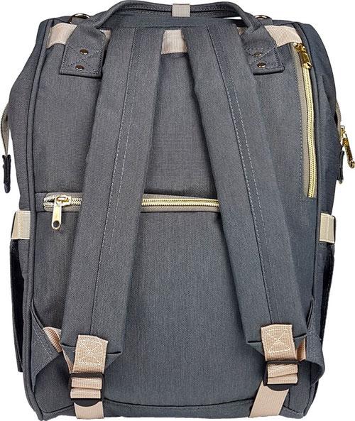 Rückseite Pomelo Best Wickelrucksack grau, Rucksack-Wickeltasche grau