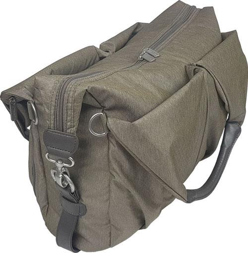 Wickeltasche elegant: Lässig Wickeltasche Green Lagel Neckline Bag gold melange