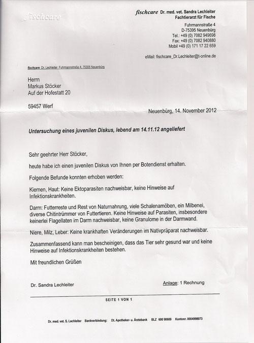 Untersuchungsnachweis Fr Dr Lechleiter