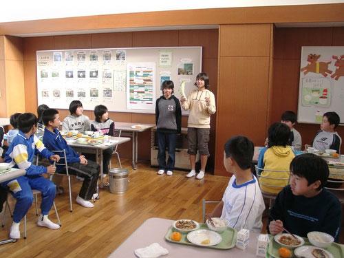 地産地消の学校給食