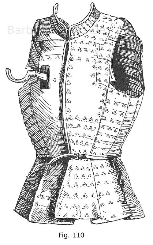 Korazin mit kirschrotem Samt überzogen, des Feldobersten Jacob von Embs (gest. 1512) italienisch, wahrscheinlich mailändisch um 1500.