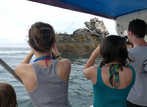 Nuestro Diplomado en Bioturismo se lleva a cabo en 36 países de todos los continentes. En la foto una de las ediciones en las Islas Galápagos