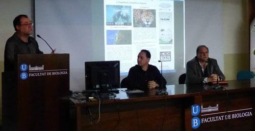"""(UB - mayo 2014) La Universitat de Barcelona acoge la entrega de la acreditación internacional """"Wildlife & Biosecurity Card"""" en una gala con expertos internacionales y alumnos llegados de diversos continentes."""