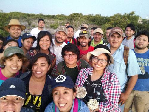 Participantes en el curso de rastreo y monitoreo de fauna de Biotropical Institute. Marzo 2018, Yucatán.