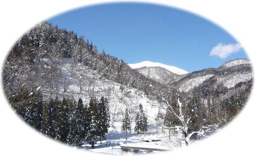 石徹白からの風景(H23.1.3)