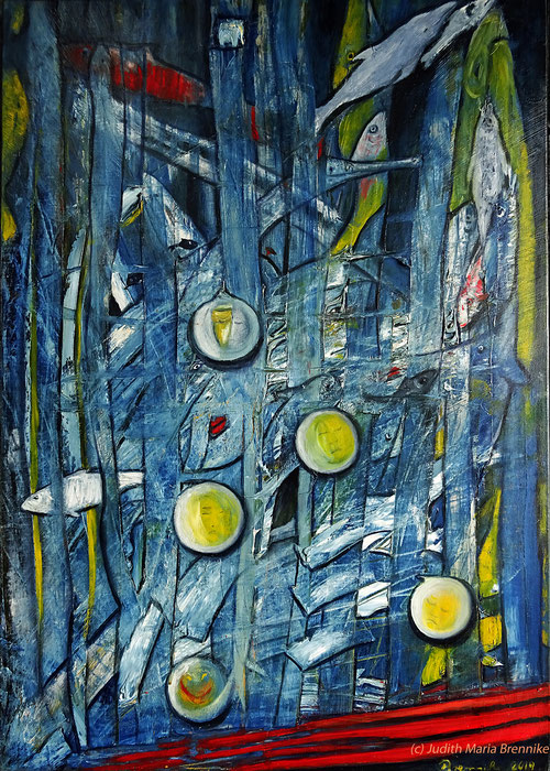 """Your hurt me"" Ölgemälde abstrakt 50x70x2 cm, Brennike-Malerei 2019"