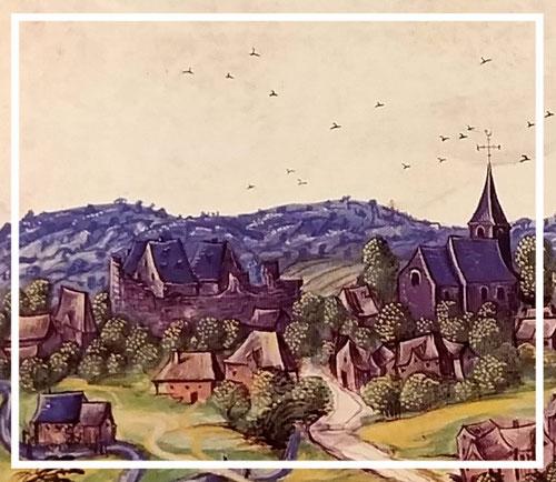 Albums de Croÿ, Comté de Namur, vol. II, planche 137, éd. Crédit Communal, 1997