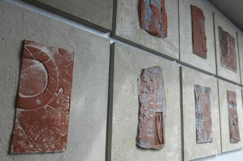 Malerei Heide Klencke Töpfern Reliefs