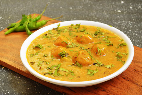 Ricetta del Gatta Masala, piatto tipico del Rajasthan (Photo by Smitha Kalluraya )
