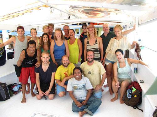 """Felici a fine """"crociera"""" dopo 3 giorni di navigazione da Lombok A Komodo"""