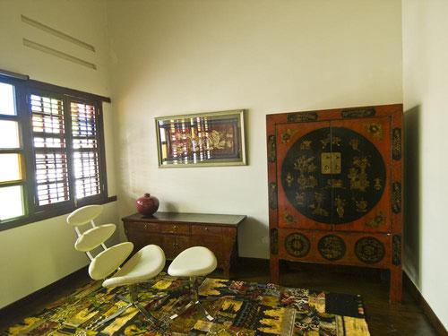 Un particolare della Clarke Terrace Master Bedroom dell'Hotel Penaga a Penang