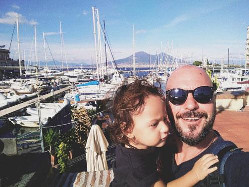 Io e mio figlio Benjo a Napoli