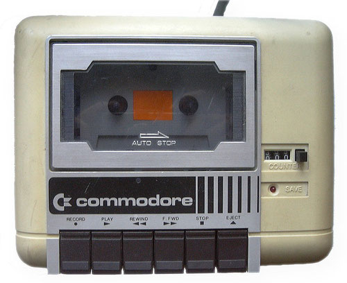 Il riproduttore di cassette del Commodore 64 (Photo by: Toni Saarikko)
