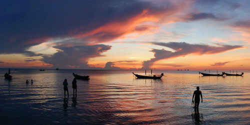 Spettacolare tramonto a Koh Tao - Thailand