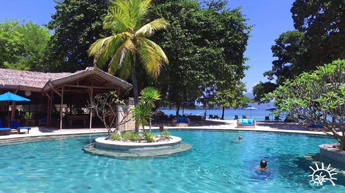 Pool View of Siladen Resort and Spa in Sulawesi (Photo by Siladen Resort and Spa)