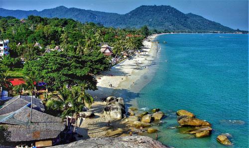 La famosa spiaggia di Lamai Beach a Koh Samui - Thailandia